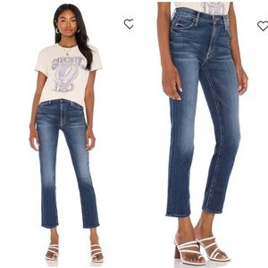 MOTHER Jeans The Mid Rise Dazzler Ankle Crop Light